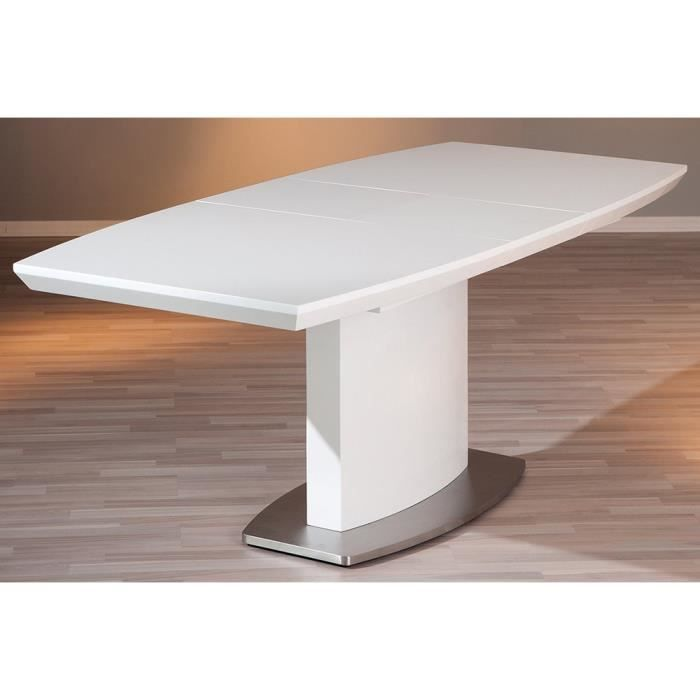 Table manger blanche 90 x 160 x 76 cm achat vente for Table a manger blanche