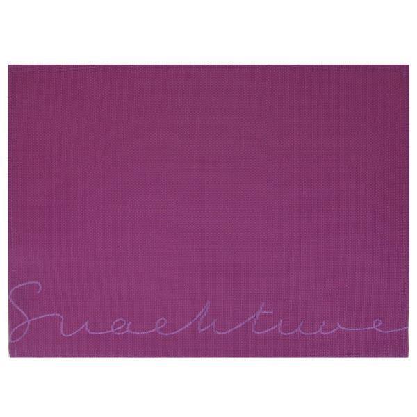 Set de table rectangulaire inscription snacktim achat for Set de table rectangulaire