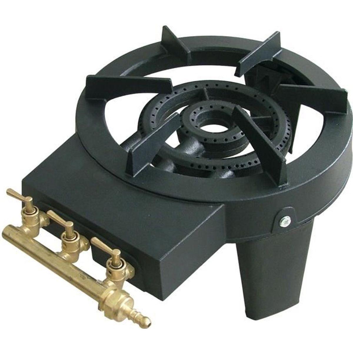 Réchaud gaz en fonte 3 robinets 8600 W grande capacité - Achat / Vente ustensile Réchaud gaz en ...