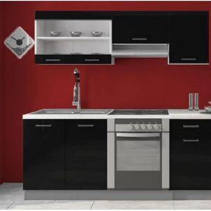 meuble vitre laque noir achat vente meuble vitre laque noir pas cher cdiscount. Black Bedroom Furniture Sets. Home Design Ideas