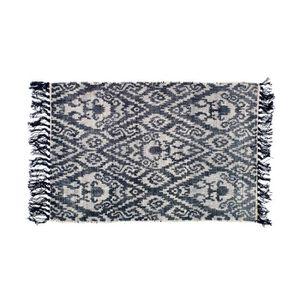 tapis coton a frange achat vente tapis coton a frange pas cher cdiscount. Black Bedroom Furniture Sets. Home Design Ideas