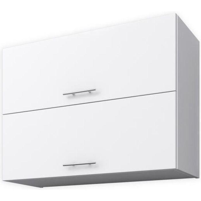 Meuble haut cuisine 120 cm achat vente meuble haut for Meuble cuisine haut blanc