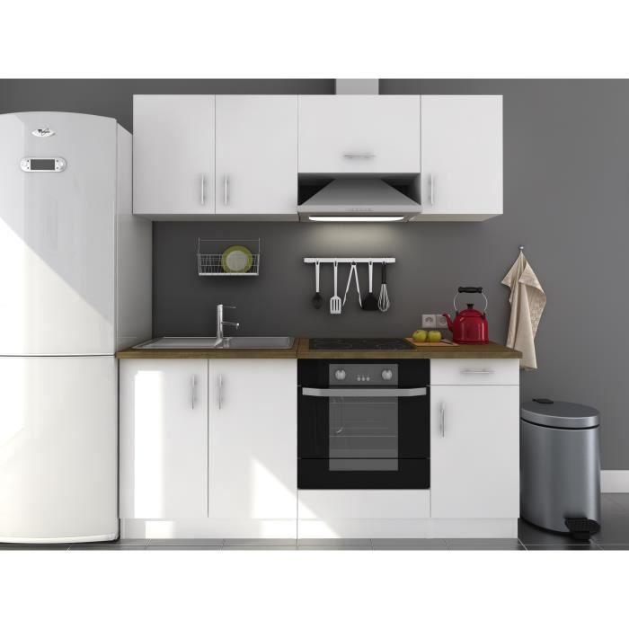 Evo cuisine compl te l 1m80 blanc laqu achat vente cuisine compl te ev - Cuisine pas cher avec electromenager ...
