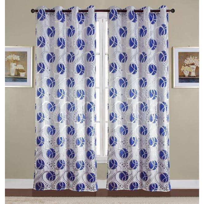 rideau imprime bleu achat vente rideau imprime bleu pas cher les soldes sur cdiscount. Black Bedroom Furniture Sets. Home Design Ideas