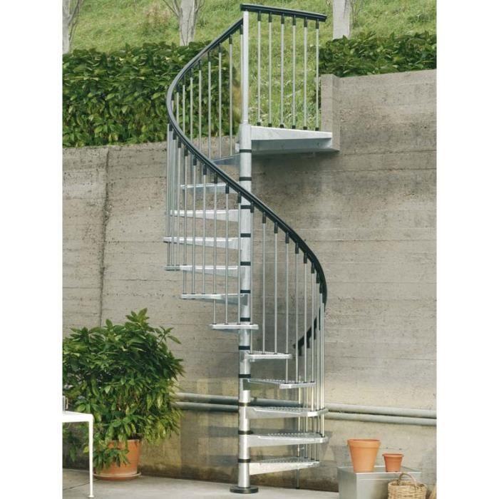 Escalier en colima on d ext rieur civik zink de chez - Hauteur de marche d escalier ...