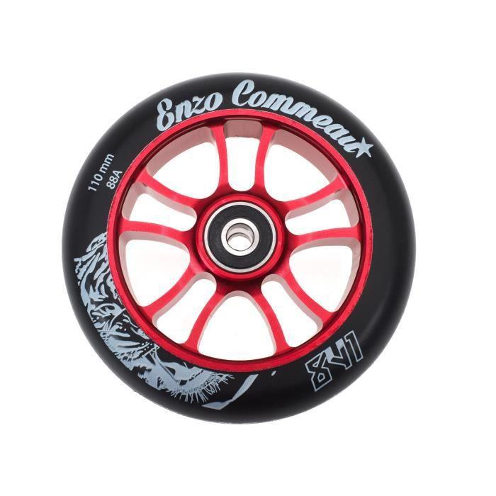 roue de trottinette enzo 110 mm abec9 rouge achat vente roue de trottinette enzo 1 cdiscount. Black Bedroom Furniture Sets. Home Design Ideas