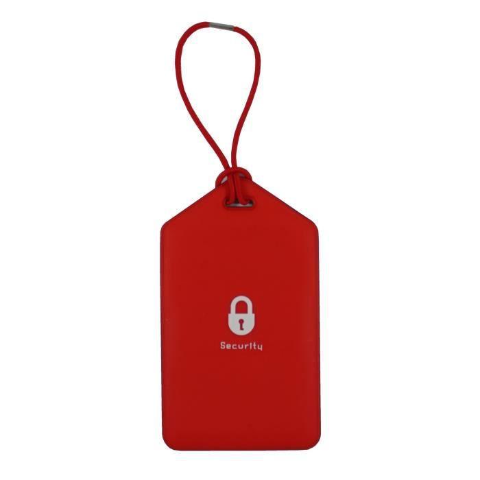 Porte etiquette nom adresse bagage rouge achat vente for 1 porte etiquette de voyage