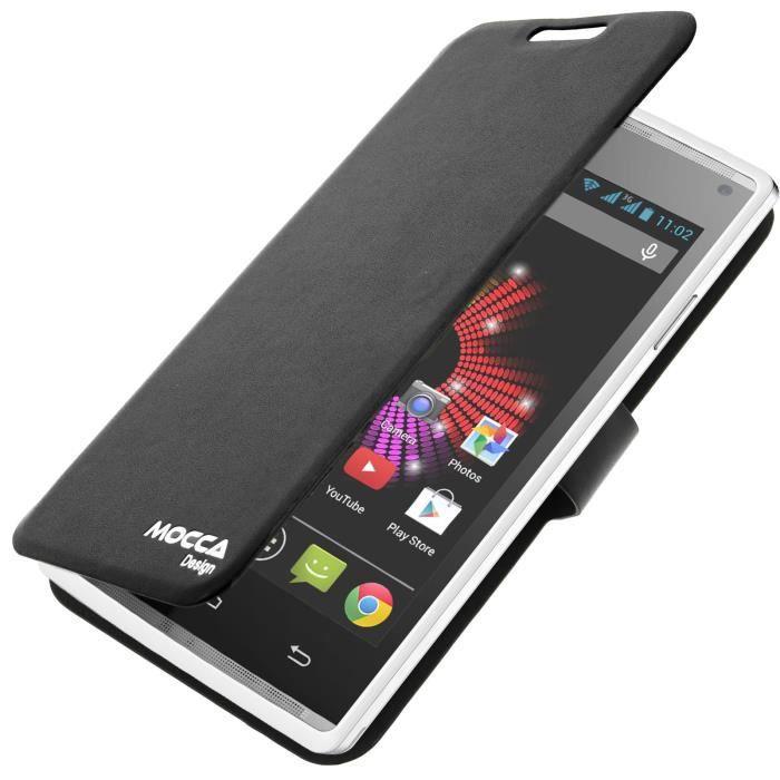 telephonie accessoires portable gsm housse portefeuille archos  titanium noir f moc
