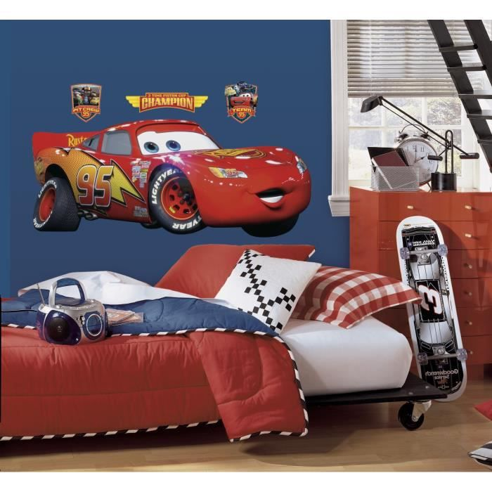 cars sticker stickers muraux enfant flash mc g 233 ante achat vente stickers cdiscount