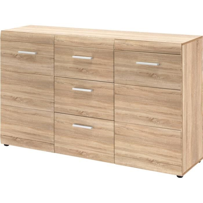 buffet chene de sonoma achat vente buffet chene de sonoma pas cher cdiscount. Black Bedroom Furniture Sets. Home Design Ideas