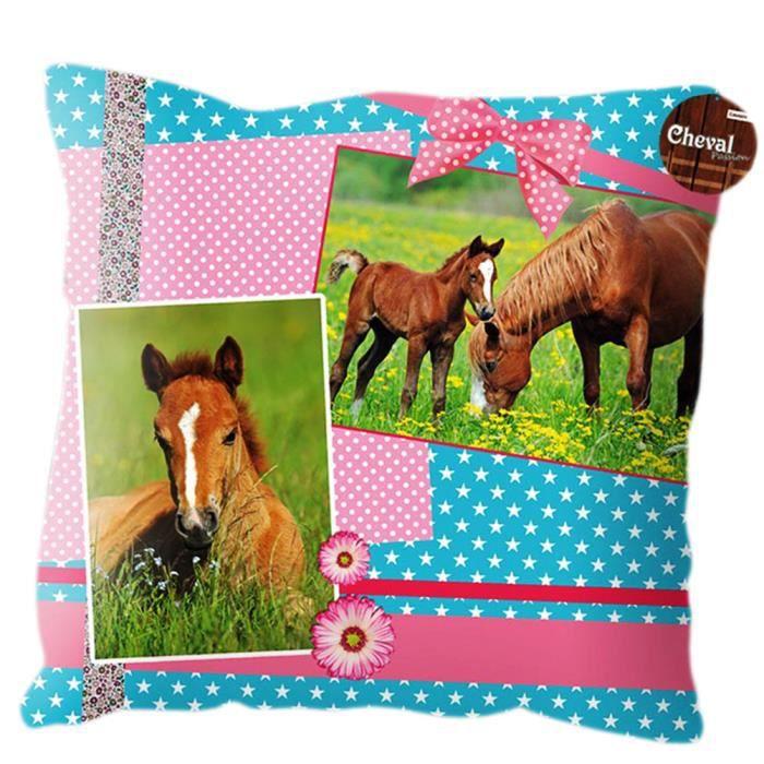 coussin cheval rose achat vente coussin soldes d hiver d s le 6 janvier cdiscount. Black Bedroom Furniture Sets. Home Design Ideas