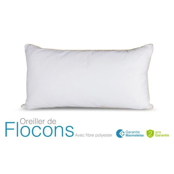 Oreiller flocons 60x40 achat vente oreiller cdiscount - Oreiller suprelle memory ...