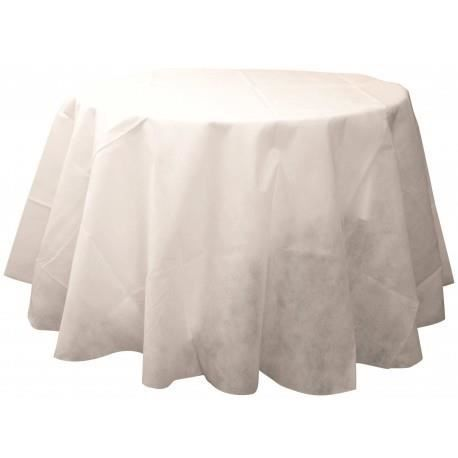 nappe ronde intiss 233 blanc diam 240 cm achat vente nappe de table soldes d 233 t 233 cdiscount