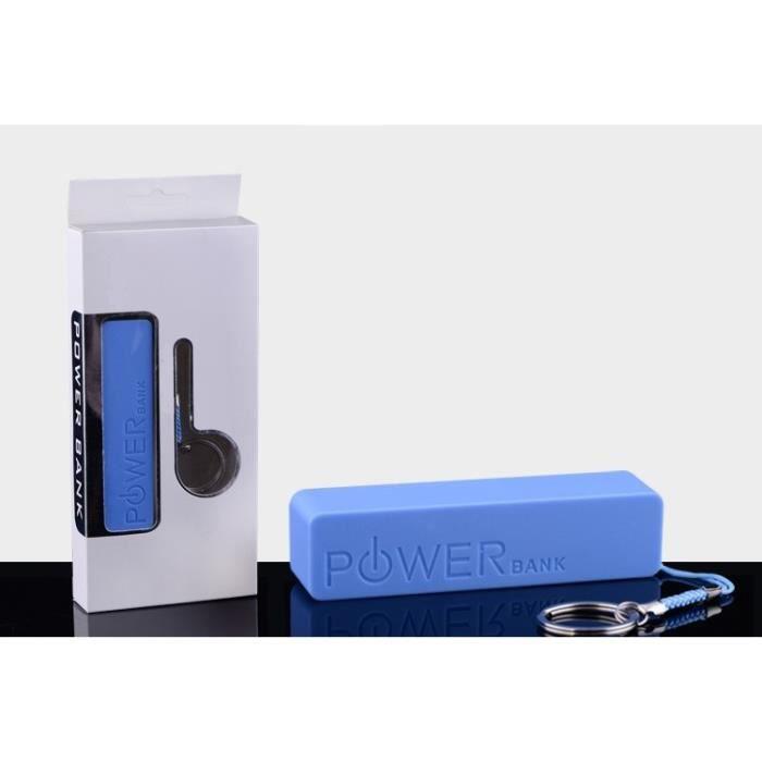 chargeur externe smartphone powerbank bleu achat chargeur t l phone pas cher avis et meilleur. Black Bedroom Furniture Sets. Home Design Ideas