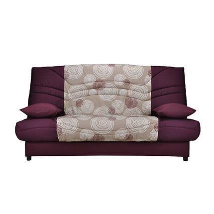 banquette lit clic clac 130cm mousse hd 28kg mo achat vente clic clac tissu coton. Black Bedroom Furniture Sets. Home Design Ideas