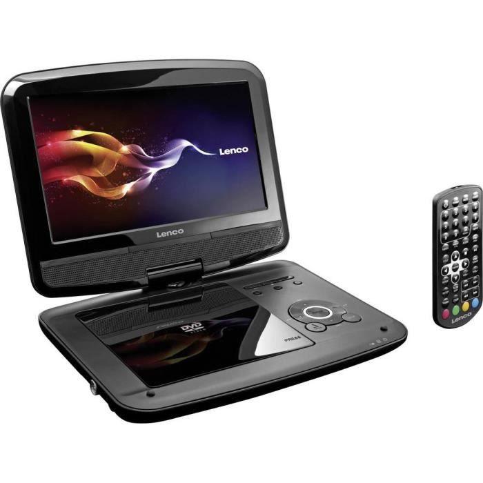 t l viseur portable avec lecteur dvd 9 pouces lenco dvp 9412 avec lecteur dvd int gr. Black Bedroom Furniture Sets. Home Design Ideas