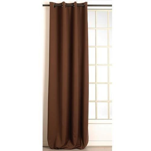rideau isolant thermique hiver couleur marron 1 achat vente rideau acier cdiscount. Black Bedroom Furniture Sets. Home Design Ideas