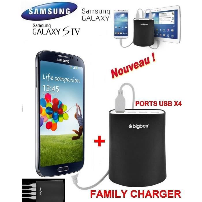 familly chargeur samsung galaxy s4 noir achat. Black Bedroom Furniture Sets. Home Design Ideas