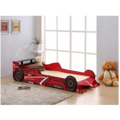 Lit voiture formule 1 90x190cm mdf rouge led achat vente structure - Lit voiture formule 1 ...