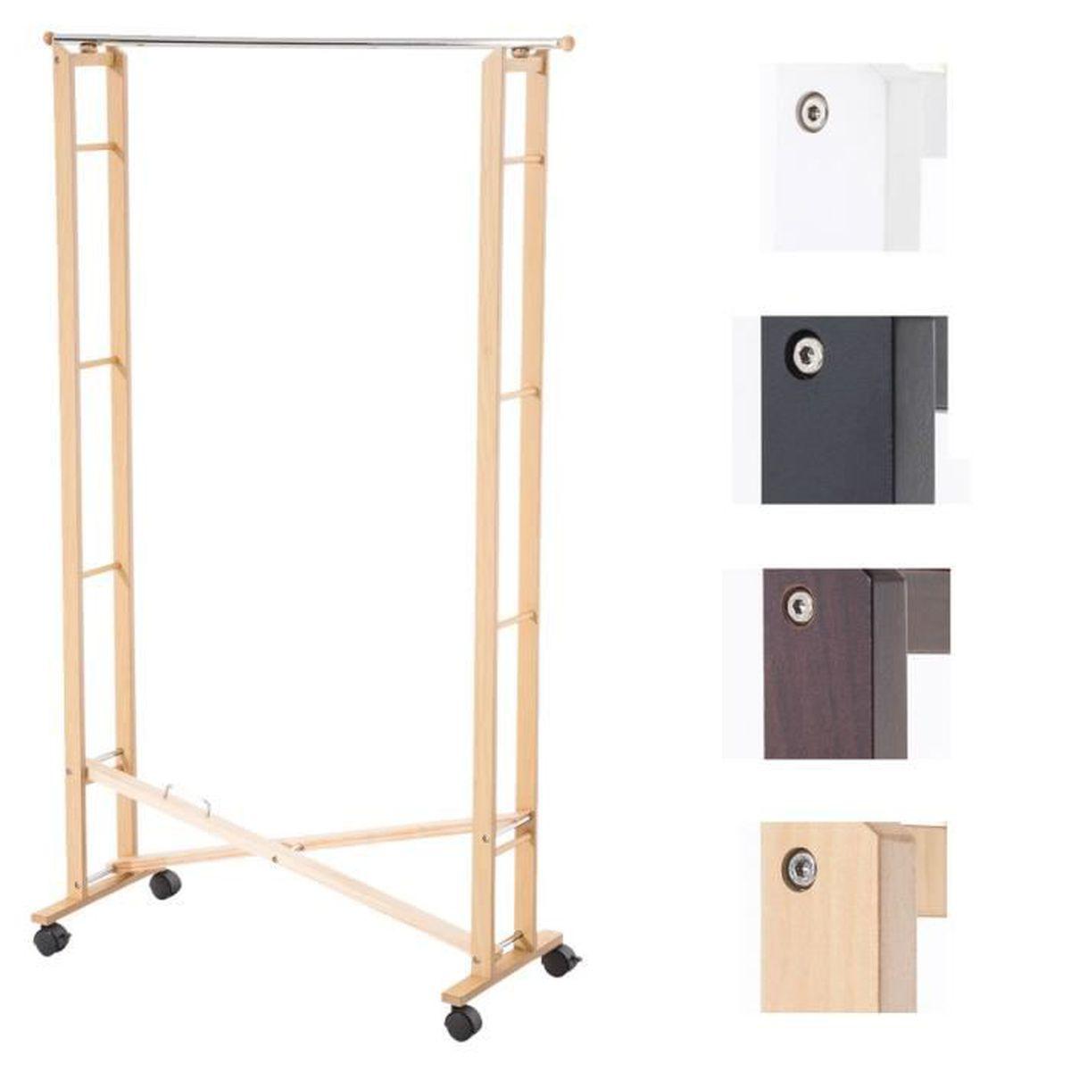 clp portant pour v tements pliable tousson en bois hauteur 170 cm jusqu 4 couleurs au choix. Black Bedroom Furniture Sets. Home Design Ideas