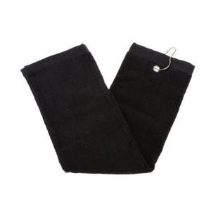 PEIGNOIR Golf coton serviette Drap de sport (noir )