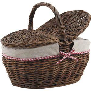 Panier osier avec couvercle achat vente panier osier for Ou trouver des paniers en osier