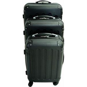 SET DE VALISES Set de 3 valises Trolley noires, Valises rigides à