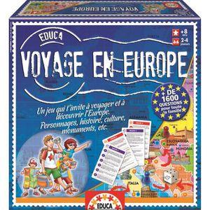 JEU SOCIÉTÉ - PLATEAU EDUCA Voyage en Europe