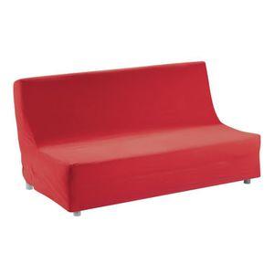 housse de clic clac rouge achat vente housse de clic clac rouge pas cher soldes d hiver. Black Bedroom Furniture Sets. Home Design Ideas