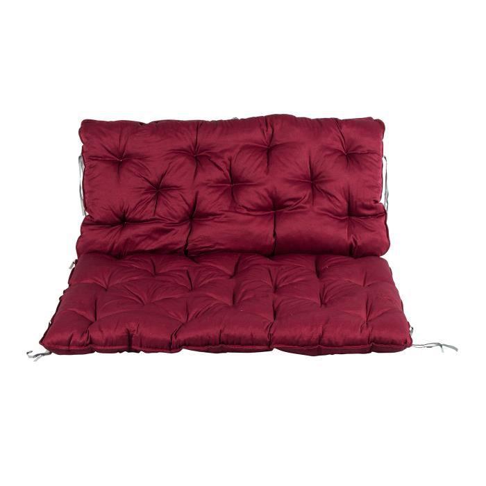 le coussin sp ciaux pour palette avec haut dossier ca 120 x 80 cm 120 x 60 cm rouge achat. Black Bedroom Furniture Sets. Home Design Ideas