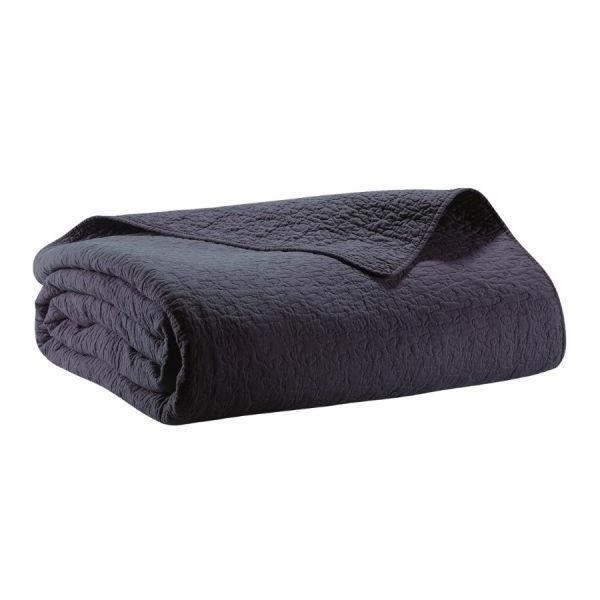 Couvre lit boutis piqu 180x250 cm couleur marine 100 polyester achat ve - Couvre lit polyester ...