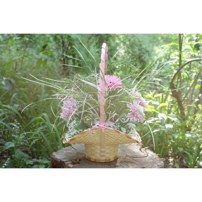 Fleurs artificielles dans le panier faites main achat for Soldes fleurs artificielles