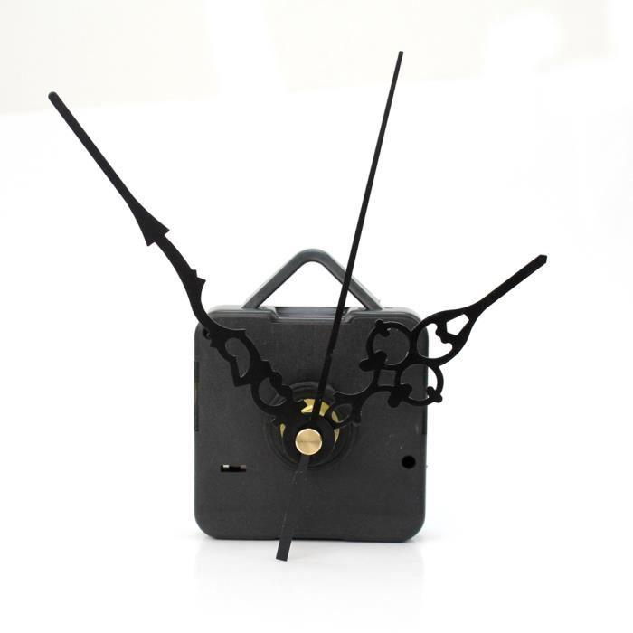mouvement mecanisme d 39 horloge a quartz 3 aiguilles noir en. Black Bedroom Furniture Sets. Home Design Ideas
