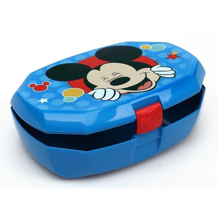 boite a gouter mickey mouse lunch box 16x11 cm achat vente lunch box bento boite a. Black Bedroom Furniture Sets. Home Design Ideas