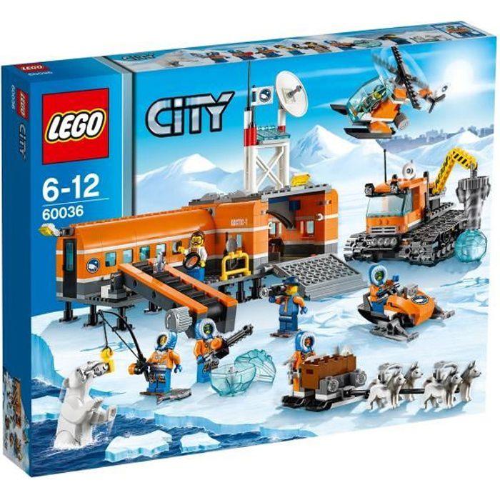 Lego city 60036 le camp de base arctique achat vente assemblage construction cdiscount - Image lego city ...