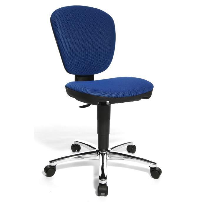Fauteuil de bureau kiddi star bleu achat vente for Chaise de bureau bleu