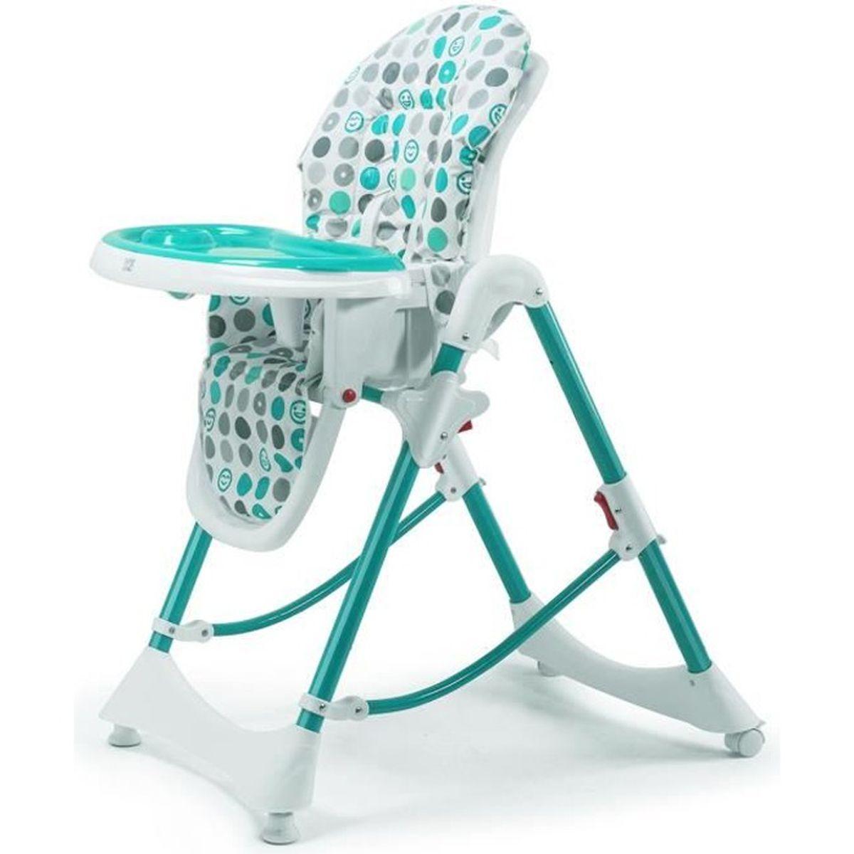 baby vivo chaise haute r glable pour b b enfant avec tablette de 6 mois 3 ans tippy turquoise. Black Bedroom Furniture Sets. Home Design Ideas