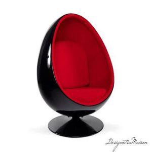fauteuil oeuf egg chair achat vente fauteuil noir cdiscount. Black Bedroom Furniture Sets. Home Design Ideas