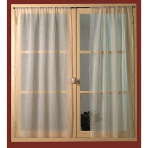 rideaux petites fenetres achat vente rideaux petites fenetres pas cher cdiscount. Black Bedroom Furniture Sets. Home Design Ideas