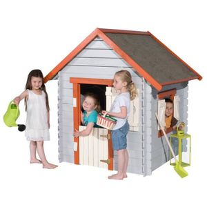 cabane en bois pour enfant achat vente jeux et jouets pas chers. Black Bedroom Furniture Sets. Home Design Ideas