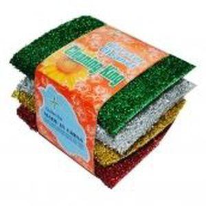 ponge vaisselle 4 eponge a recurer coloree laine dacier - Vaisselle Colore Pas Cher