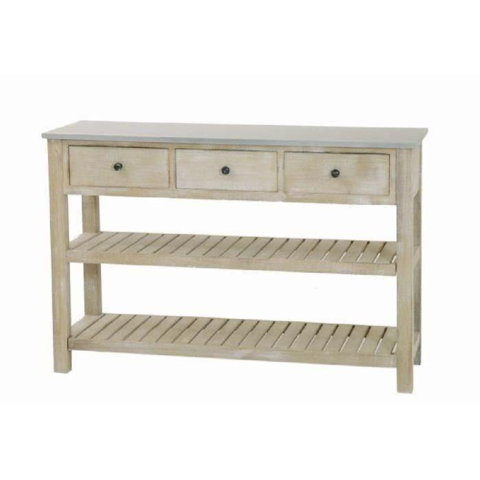 Seville console 2 tag res 3 tiroirs en bois achat - Console pour cuisine ...