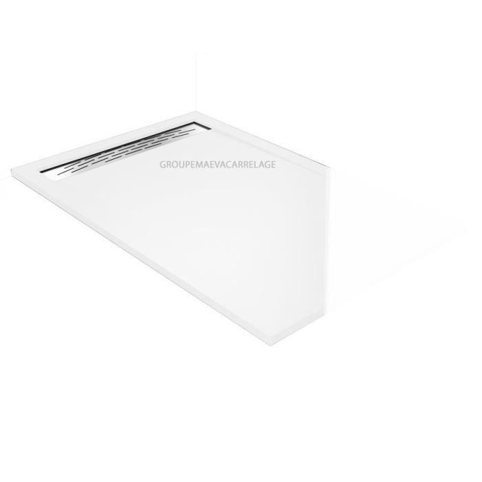 receveur douche a l 39 italienne caniveau blanc 80x140 aquarell achat vente douche receveur. Black Bedroom Furniture Sets. Home Design Ideas