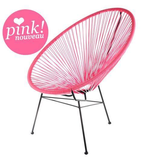 Fauteuil acapulco rose achat vente fauteuil jardin fauteuil acapulco rose - Fauteuil de jardin tresse ...
