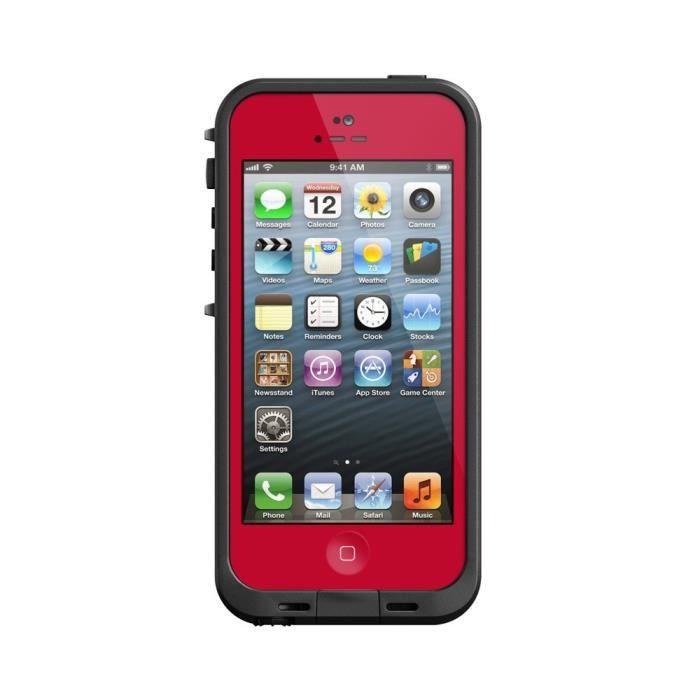 coque tanche waterproof pour iphone 5 rouge achat coque bumper pas cher avis et meilleur. Black Bedroom Furniture Sets. Home Design Ideas