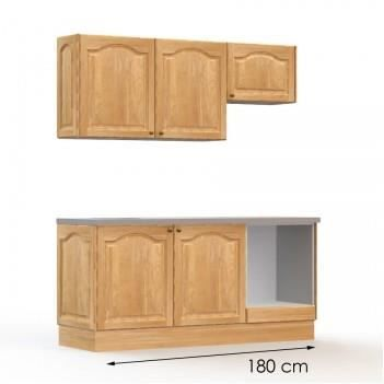 Pack complet cuisine champ tre 180cm achat vente for Cuisine 180 cm