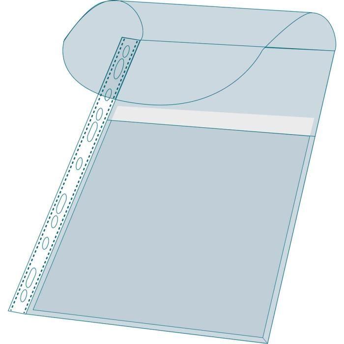 Exacompta 10 pochettes soufflet avec rabat a4 pvc haute - Chemise plastique transparente ...