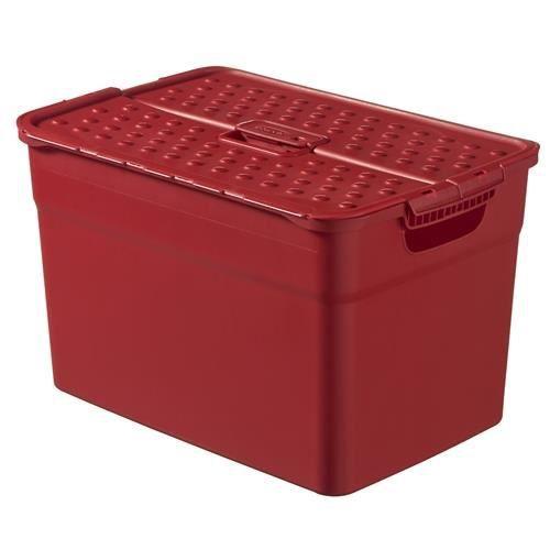Bo te de rangement curver pixxel 12 l rouge achat for Maison rouge boite de nuit