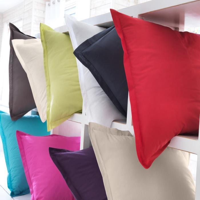 taie de traversin coton perle uni 85 x 185 cm achat. Black Bedroom Furniture Sets. Home Design Ideas