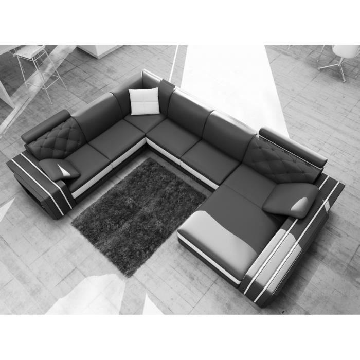 canap d 39 angle en cuir italien 8 places bentley et achat vente canap sofa divan. Black Bedroom Furniture Sets. Home Design Ideas